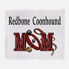 Redbone Coonhound Mom Throw Blanket