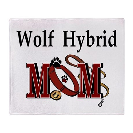Wolf Hybrid Throw Blanket