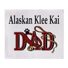 Alaskan Klee Kai Throw Blanket