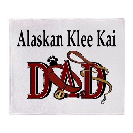 Alaskan Klee Kai Throw Blanket