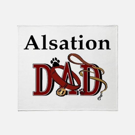 Alsation Dog Dad Throw Blanket