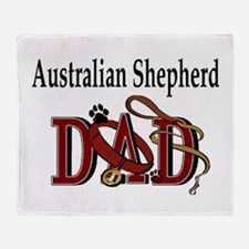 Australian Shepherd Dad Throw Blanket