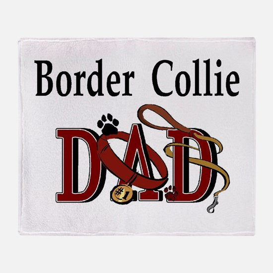 Border Collie Dad Throw Blanket