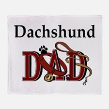 Dachshund Dad Throw Blanket