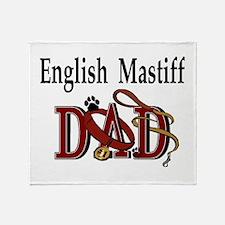 English Mastiff Dad Throw Blanket
