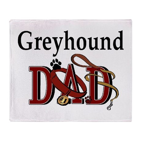 Greyhound Dad Throw Blanket