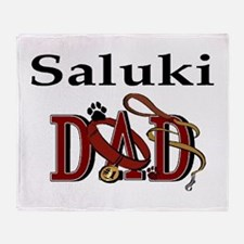 Saluki Dad Throw Blanket