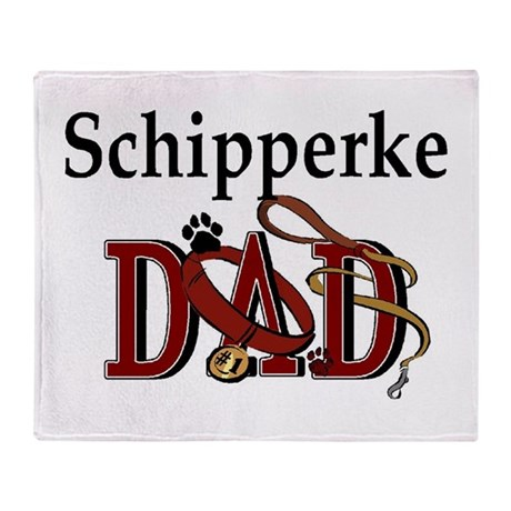 Schipperke Dad Throw Blanket