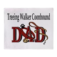 Cute Treeing walker coonhound Throw Blanket