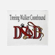 Cute Treeing walker coonhound Throw Blanket