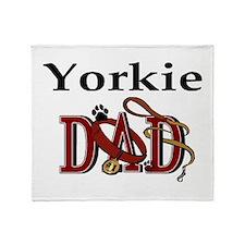 Yorkie Dad Throw Blanket