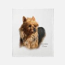 Australian Terrier Art Throw Blanket
