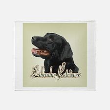 Black Labrador Retriever Throw Blanket