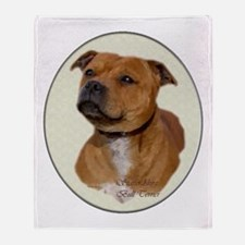 Staffordshire Bull Terrier Throw Blanket