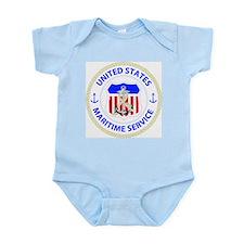 United States Maritime Service Emblem Infant Bodys
