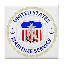 United States Maritime Service Emblem Tile Coaster