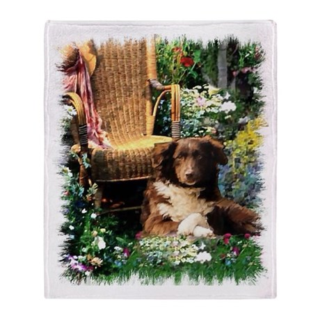 Australian Shepherd Art Throw Blanket
