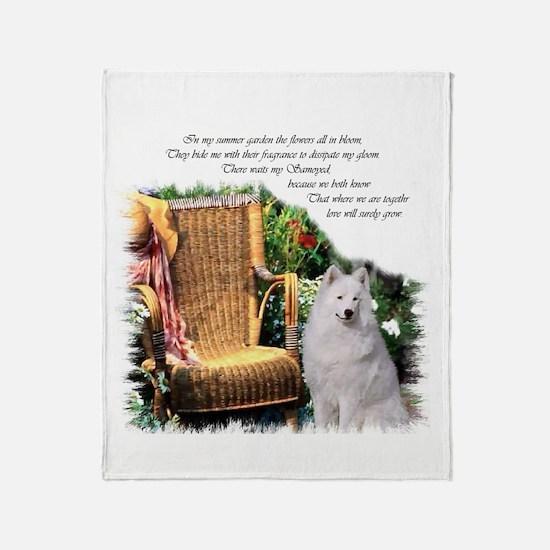 Samoyed Art Throw Blanket