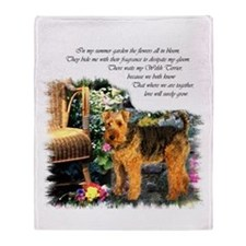 Welsh Terrier Art Throw Blanket