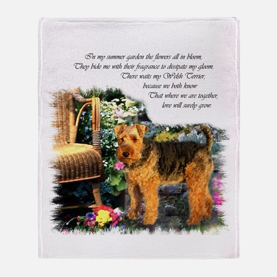 Welsh Terrier Art Throw Blanket