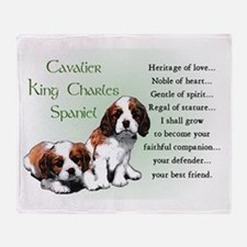 Cavalier King Charles Throw Blanket