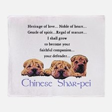 Shar-Pei Puppies Throw Blanket