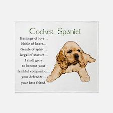 Cocker Spaniel Throw Blanket