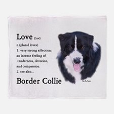 Border Collie Love Is Throw Blanket