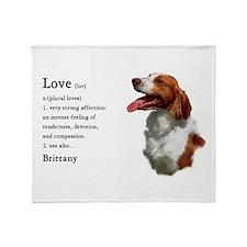 American Brittany Spaniel Throw Blanket