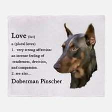 Doberman Pinscher Gifts Throw Blanket