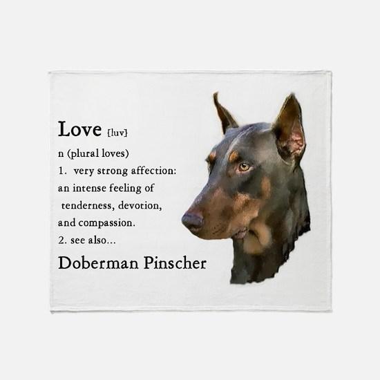 Doberman Pinscher Gifts Throw Blanket