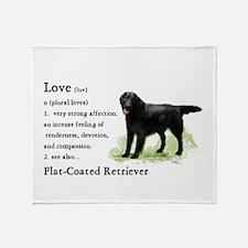 Flat-Coated Retriever Throw Blanket
