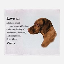Vizsla Love Is Throw Blanket