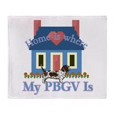 P B G V Home Is Throw Blanket