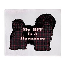 BFF Havanese Throw Blanket