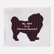 BFF Tibetan Spaniel Throw Blanket
