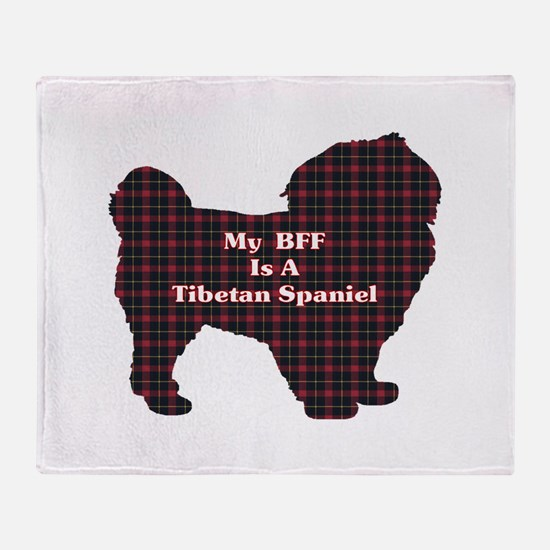 BFF Tibetan Spaniel Throw Blanket