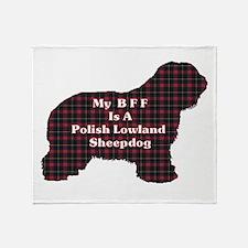 Polish Lowland Sheepdog BFF Throw Blanket