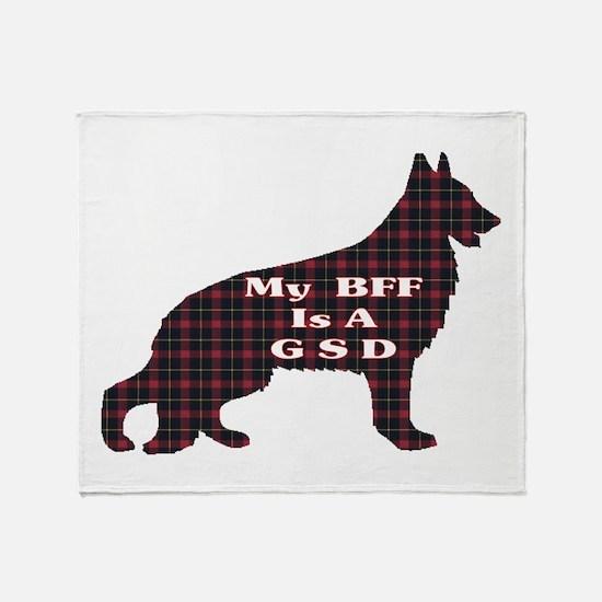 BFF German Shepherd Throw Blanket