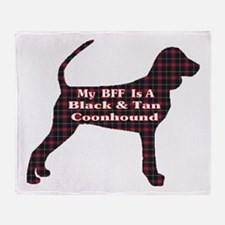 BFF Black and Tan Coonhound Throw Blanket