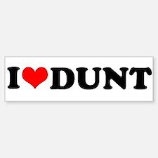 I Heart Dunt Bumper Bumper Sticker