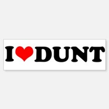 I Heart Dunt Sticker (Bumper)