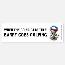 Going Tuff Barry Goes Golfing, Bumper Bumper Sticker