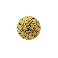 Gold Lotus Aum Mandala Mini Button (10 pack)