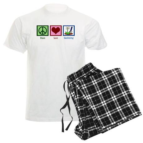 Peace Love Gardening Men's Light Pajamas