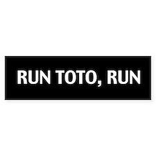 Run Toto Run Sticker (Black Bumper)