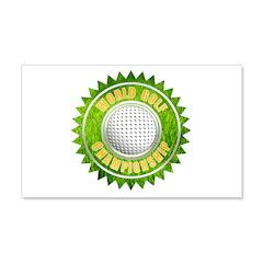 World Golf Championship Ribbo 22x14 Wall Peel