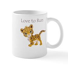 Love to Run Cheetah Mug