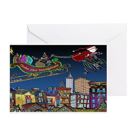 Santa Under New Management Greeting Cards (Pk of 1