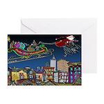 Santa Under New Management Greeting Cards (Pk of 2